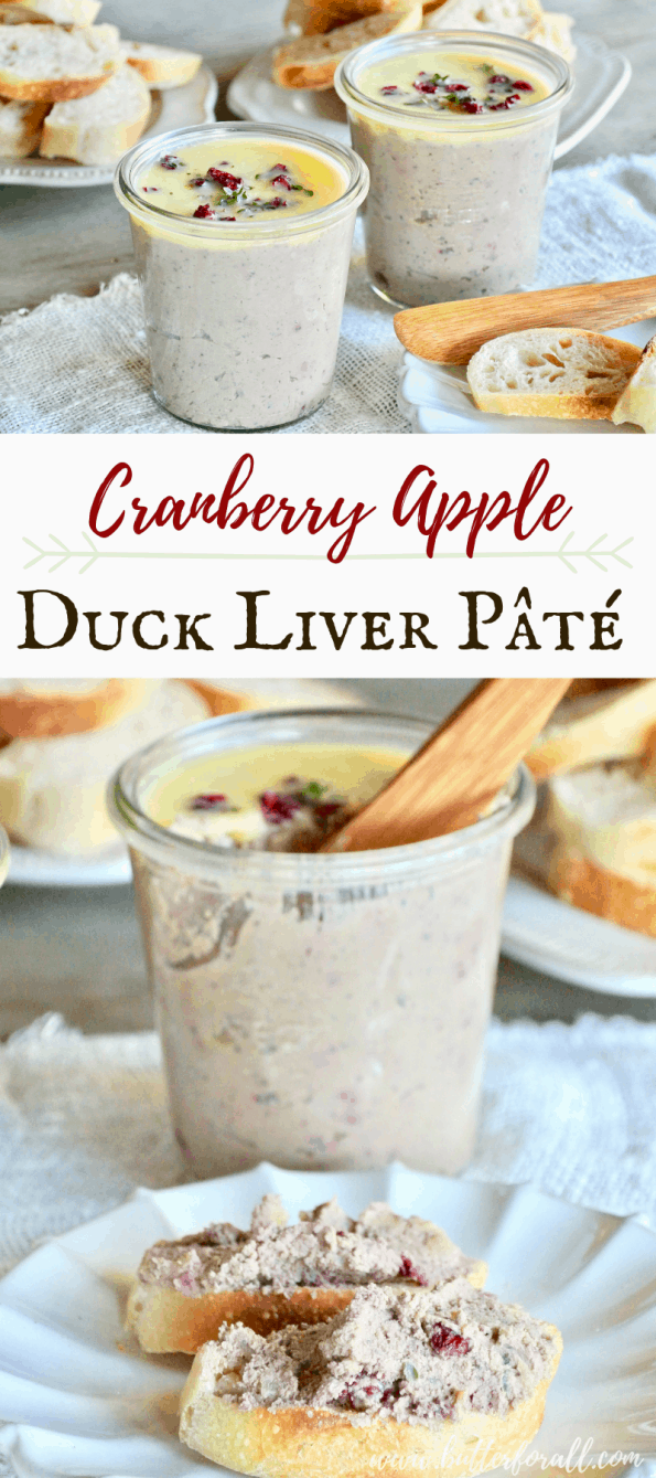 This rich and creamy traditional duck liver pâté is lightly sweetened with fresh apples and dried cranberries for a pleasant and balanced nutrient dense spread. #realfood #liver #offal #nourishingtraditions #wapf #wisetraditions #traditionalfood #pasturedmeats #ethicaleating