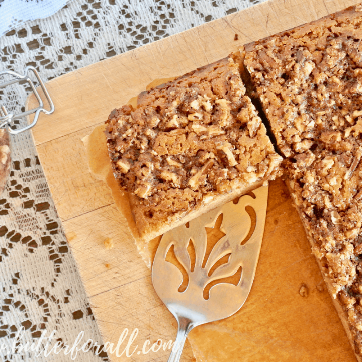 Serve a slice of this real food coffee cake for your friends. They won't be disappointed!
