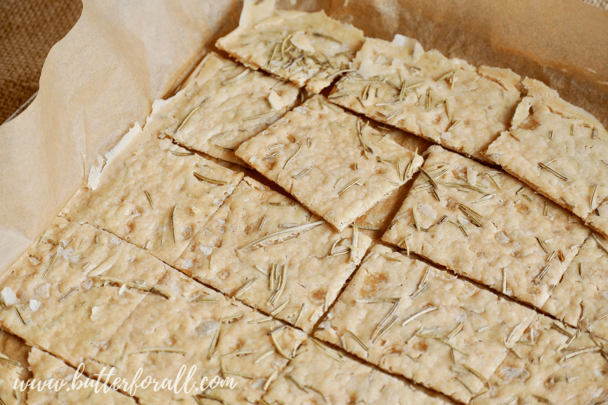 Sourdough Discard Crackers with Rosemary and Olive Oil