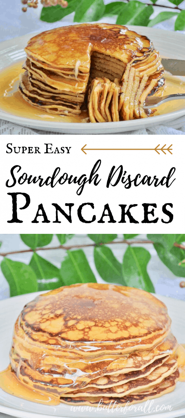 Don't let time stop you from enjoying sourdough pancakes anytime you want them! This Super Easy recipe takes fully fermented sourdough starter and quickly turns it on to a perfect pancake batter that can be cooked almost immediately! #realfood #sourdough #starter #nourishing #traditions #wapf #wapfkids #breakfast #brunch #easy #fast #properlyprepared