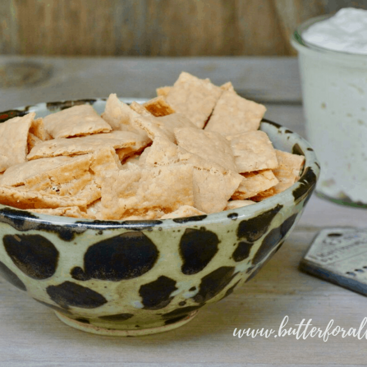 These crispy cheddar crackers are made with fully fermented sourdough starter discard for an easy and fast REAL sourdough recipe.