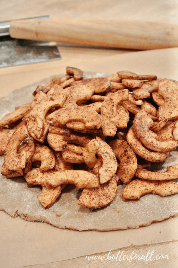 Filling the Apple Galette