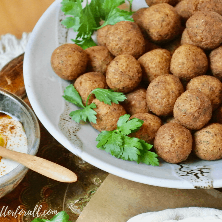 Sprouted Chickpea Falafel Balls