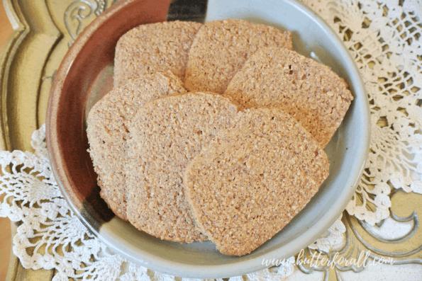Plate of grain-free graham crackers.