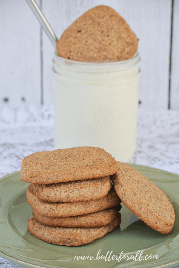 A stack of grain-free cookies.