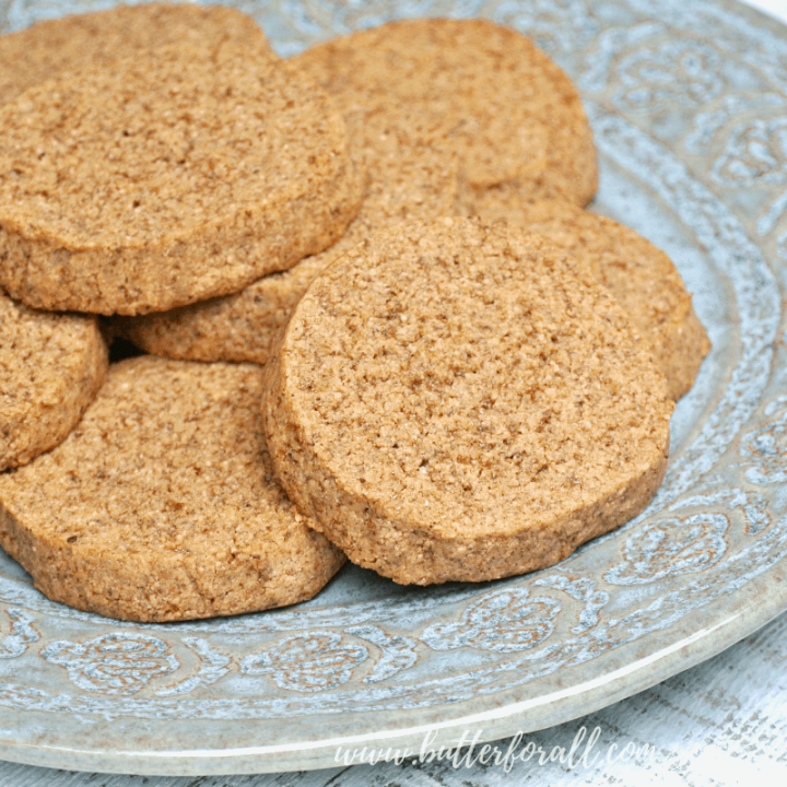 These soft and chewy gluten free cookies are made with properly prepared crispy pecans, browned butter and coconut sugar for a real food, really delicious treat! If you like pecan pie, you will love these cookies! #brownedbutter #pecans #pecanpie #cookies #glutenfree #grainfree #nourishing #wapf #simple #realfood #norefinedsugar #refinedsugarfree #icecreamsandwich #nuts #almondflour #coconutflour #butter #cookiesandmilk